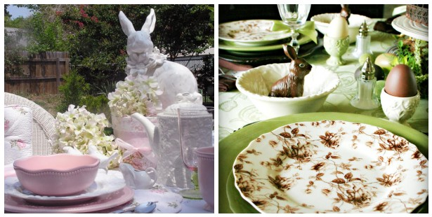 Lovely Easter tables with Bunnies