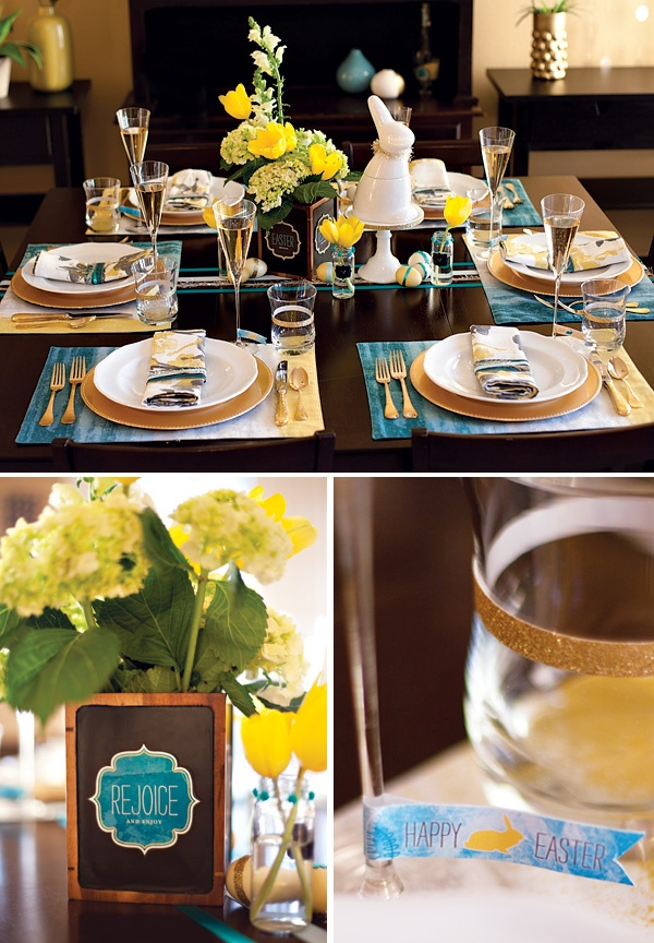 modern easter inspiration for table decor