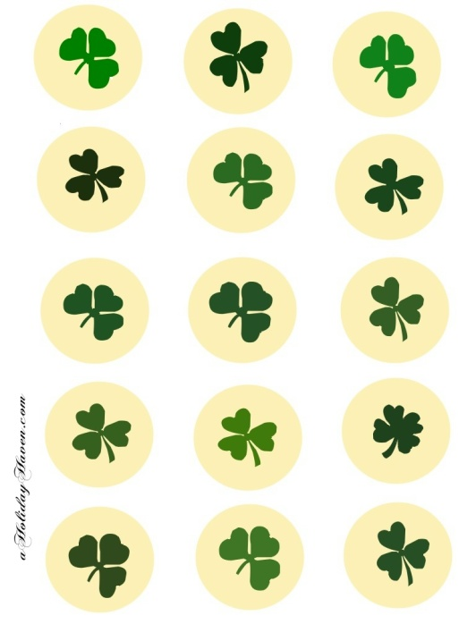 free printable st patricks day cupcake toppers