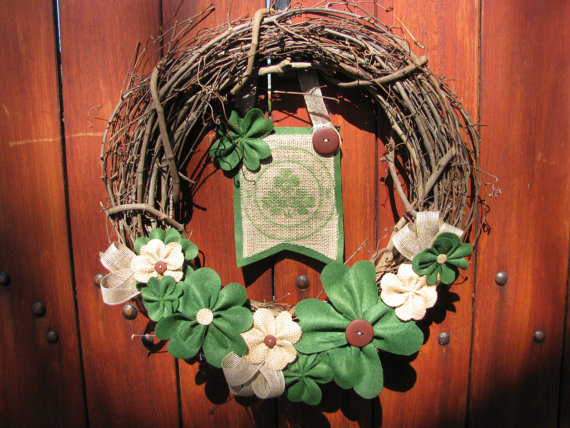 Rustic St. Patricks Day wreath