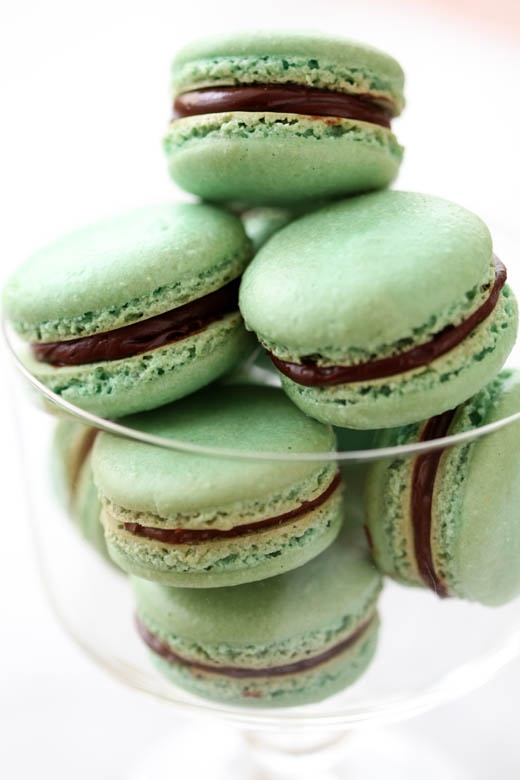 St. patrick's Day Mint green macaroons