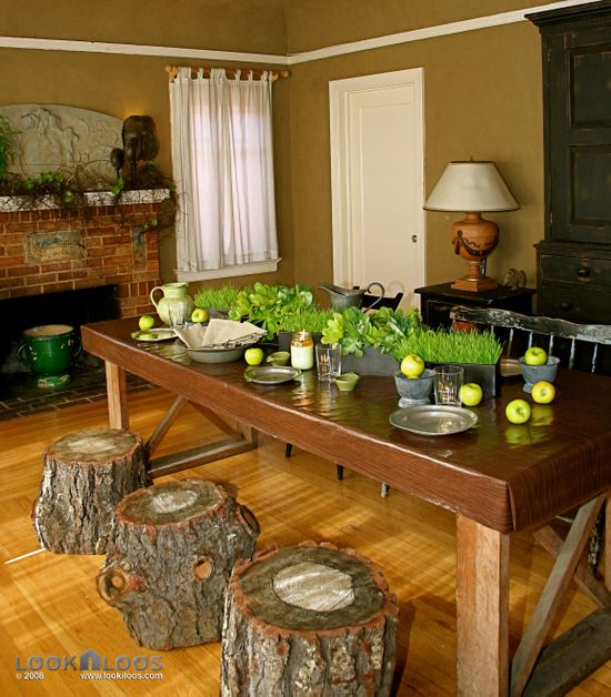 St. Patrick's Day rustic Table