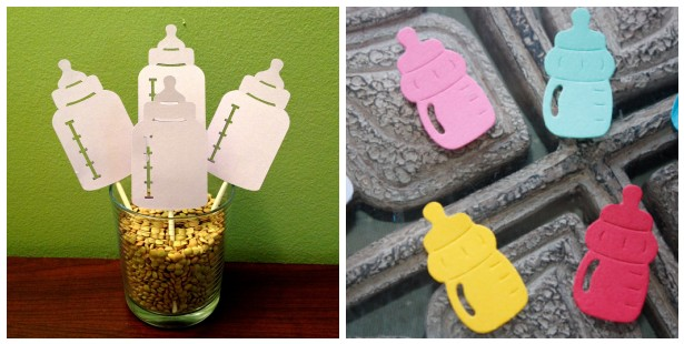 Baby bottle baby shower ideas b lovely events for Baby bottle decoration