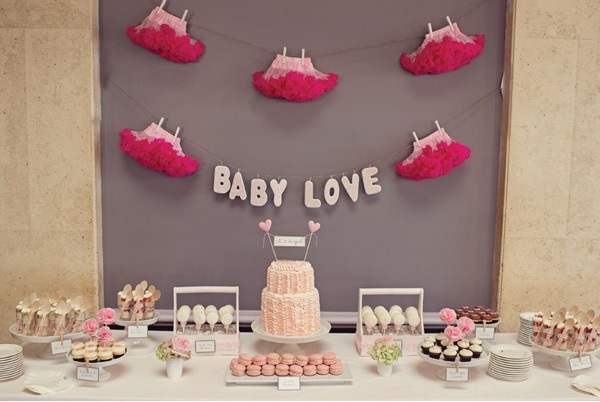 baby love baby shower backdrop