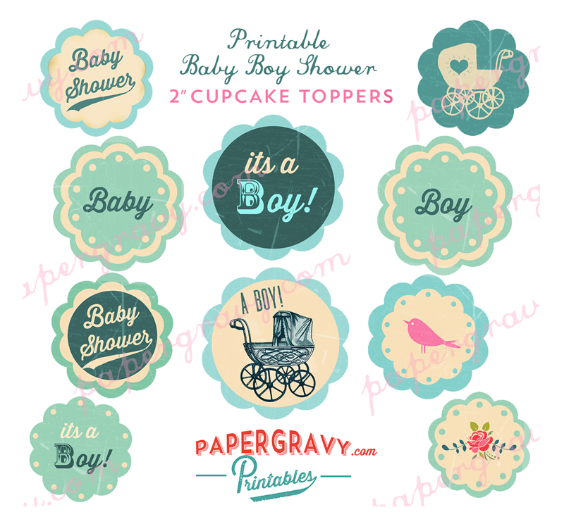 baby shower cupcake toppers free printables images pictures becuo