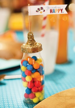 Baby Shower glitter bottle