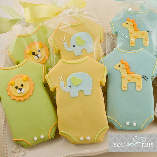 darling zoo animal onesie cookies we spotted on on to baby