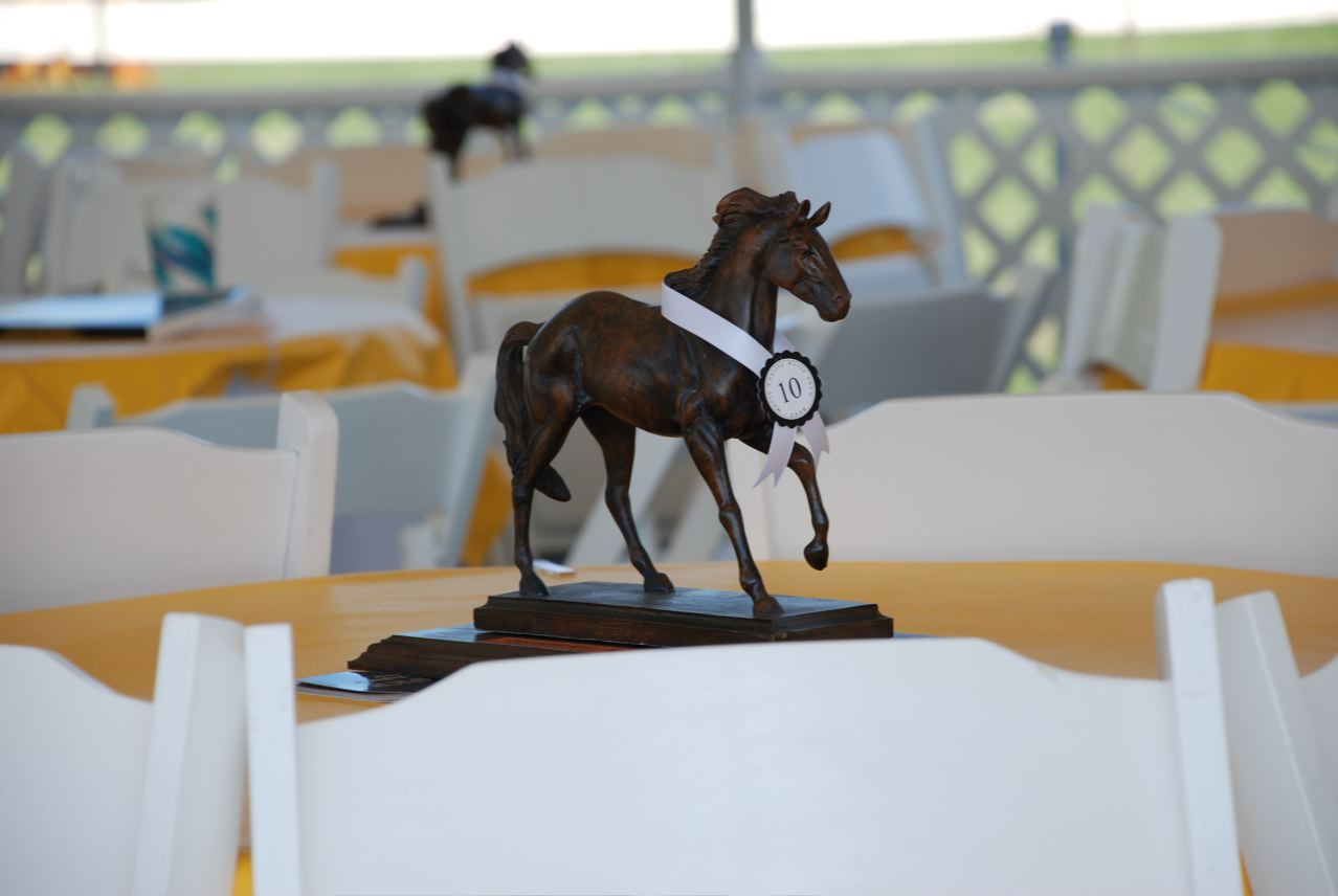 Beautiful horse centerpiece for Kentucky Derby