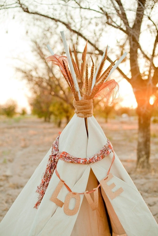 Love teepee for Bridal shower Glamping