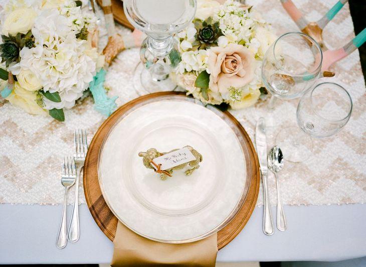 Rustic Glam Wedding ideas, place setting