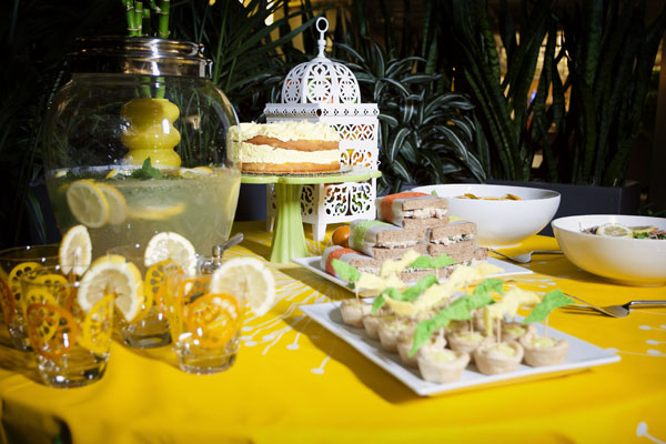 Citrus themed spa bridal shower