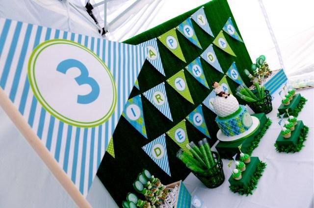 creative golf party for birthday boy