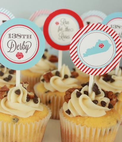 Cupcake topper printables for Kentucky Derby