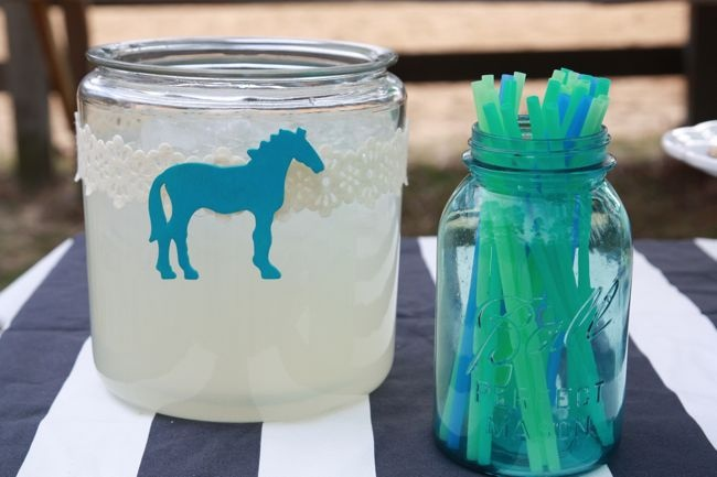 Cute Horse Beverage display for Kentucky Derby