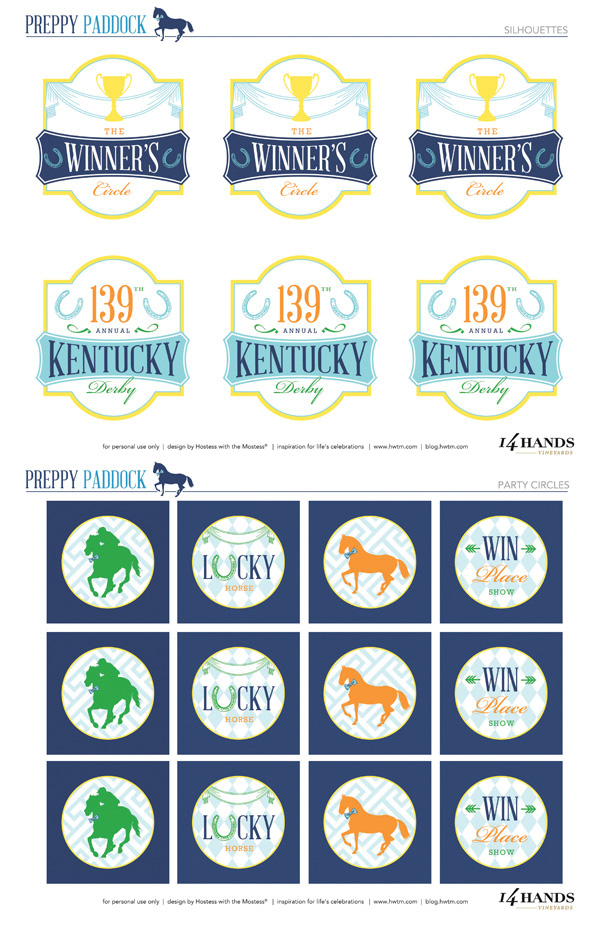 Free Kentucky derby party printables