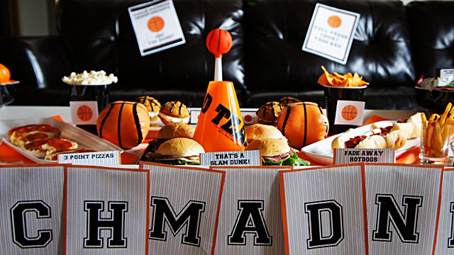 March Madness basketball party- B. Lovely Events