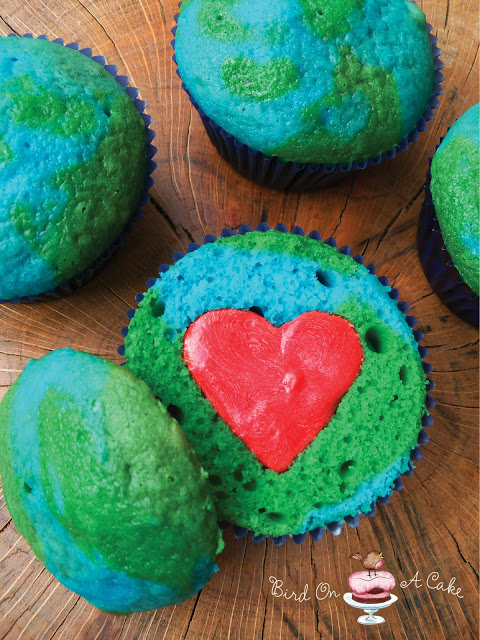 Earth Day DIY cupcakes