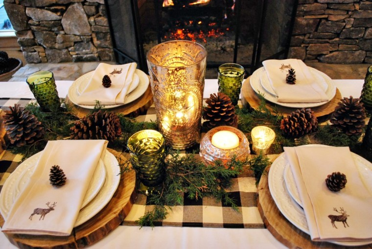 eclectic rustic elegant cabin tabletop