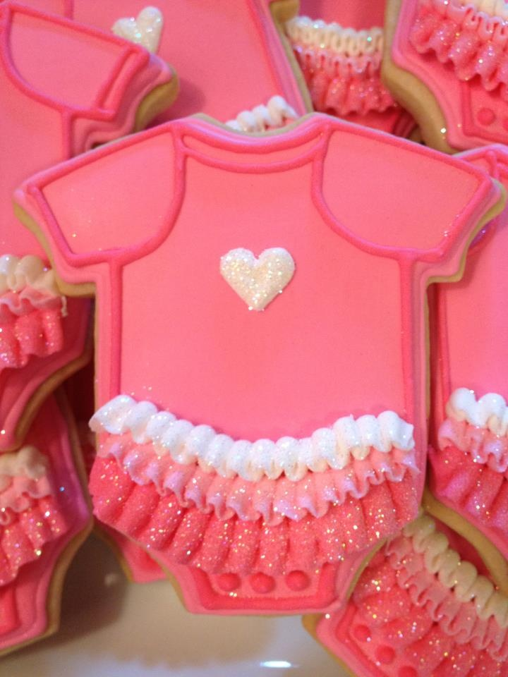 girl onesie cookies