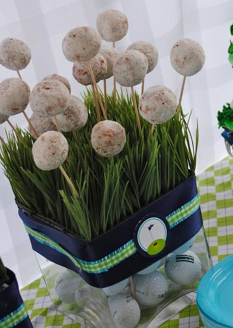 golf ball dounuts for golf party