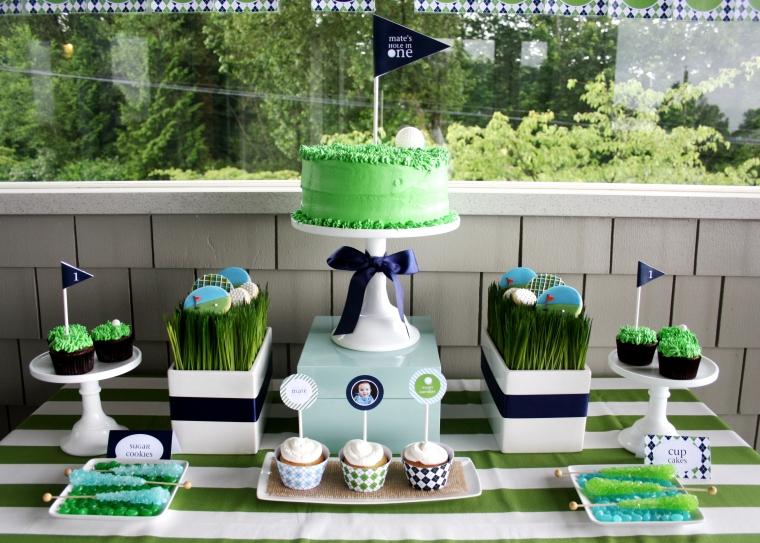 Golf birthday party desser bar