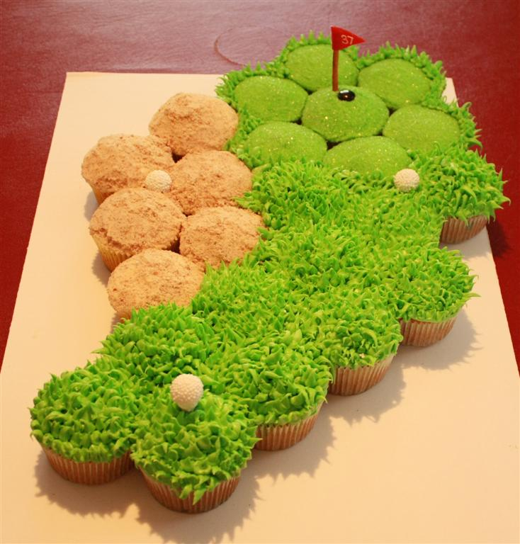 Golf fairway cupcakes- great for the masters