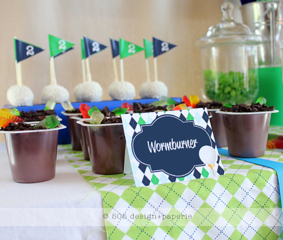 Golf party food lables printable set