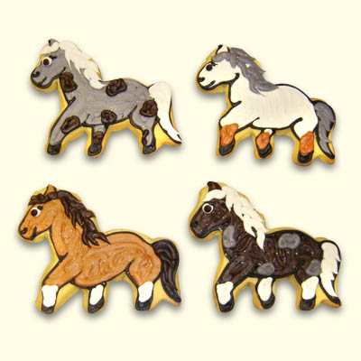 Horse and Pony Cookies for the Kentucky Derby