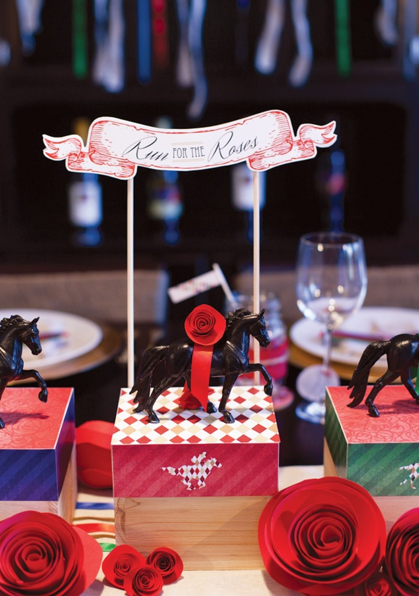 Horse centerpieces for Kentucky Derby Party