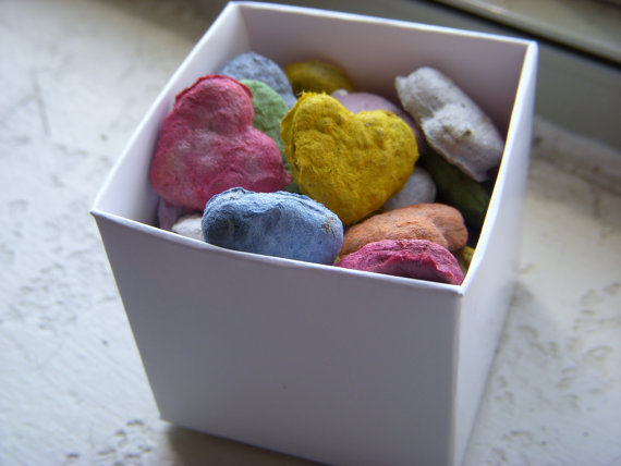 Heart shaped Seed bombs for Earth day-B. Lovely Events