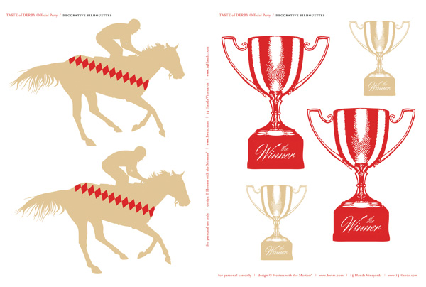 free kentuckyderby-printables horses and trophies