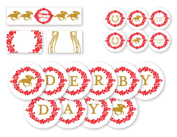 Kentucky Derby printables set