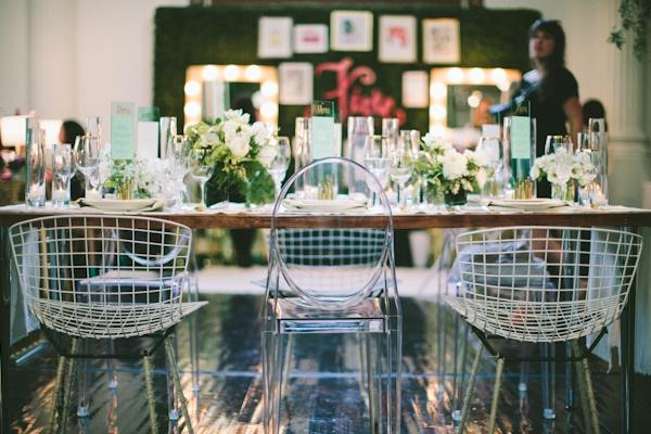 lovely modern garden tablescape