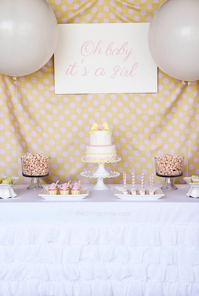 Oh baby it's a girl baby shower backdrop