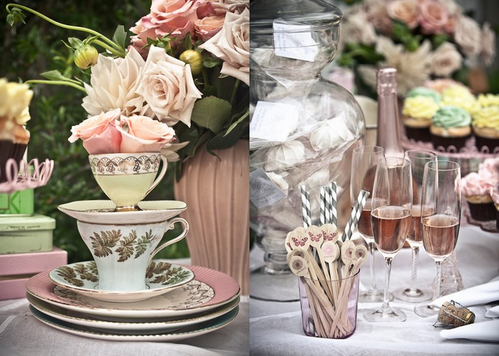 Pink Champagne Bridal shower tea party