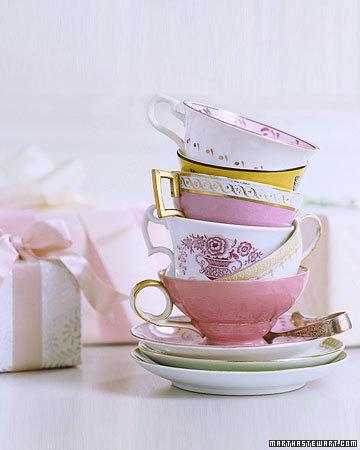 Tea cup decor for bridal shower tea