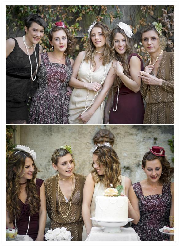Vintage bridal shower tea party