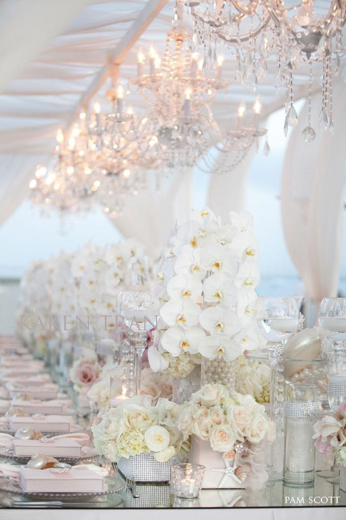 White glam elegance tablescape