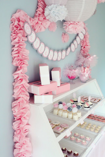 ballerina birthday dessert bar