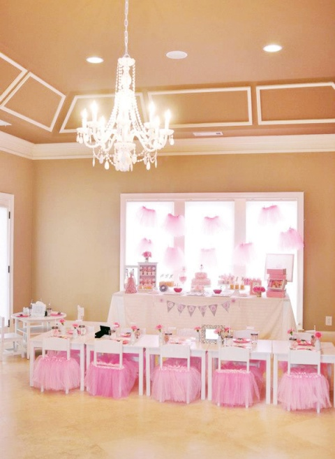 Ballerina girls birthday party setup {fabulous}