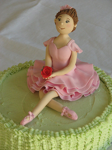 ballerina cake perfect for a girls birthday
