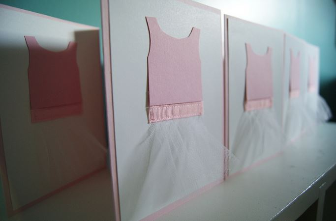 Ballerina tutu party invitation