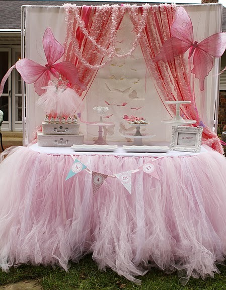 beautiful pink fairy party
