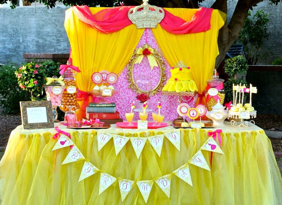 All Hale To The Princess A Princess Birthday B Lovely Events Inspiration Belle Party Decoration Ideas