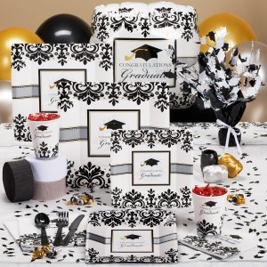 black and white graduation ideas! - b. lovely events