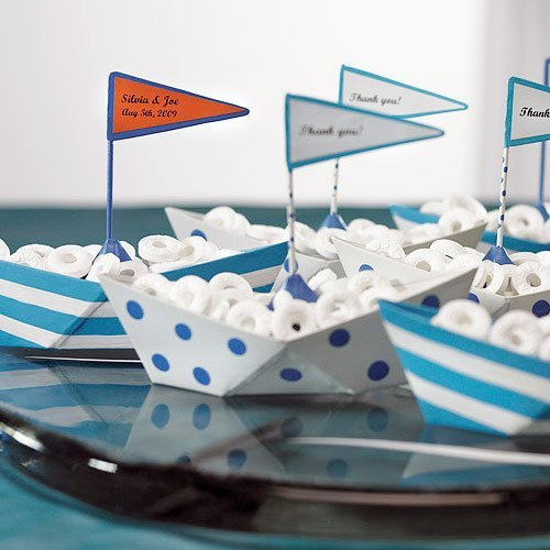 Ships ahoy a boys nautical party b lovely events for Decoration yacht