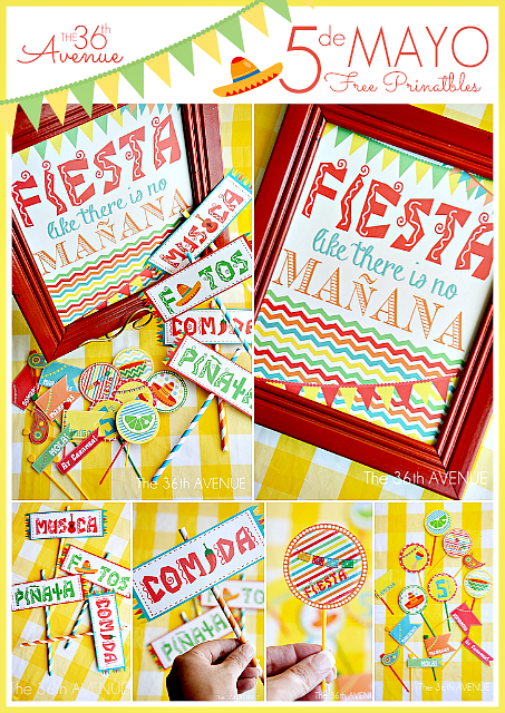 Cinco De Mayo free printable Party Kit