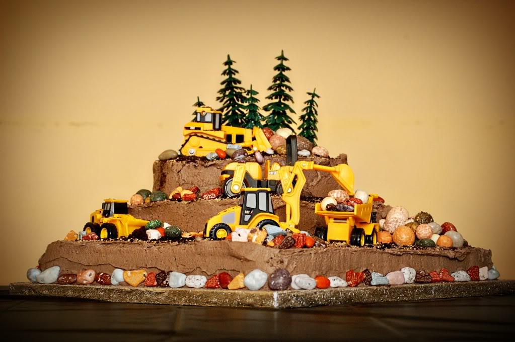 construction birthday cake designs