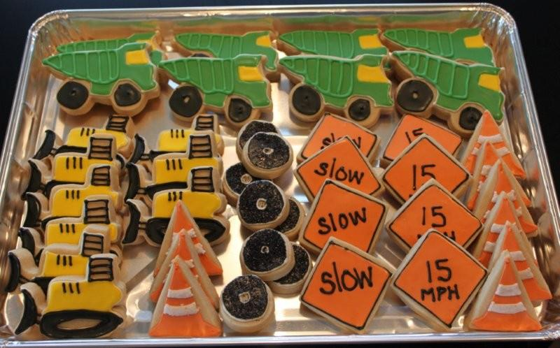 Construction  boys birthday Cookies