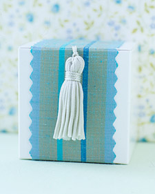 DIY Graduation tassel favor boxes